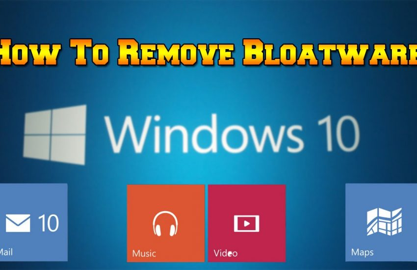 remove bloatware from windows 10 desktop