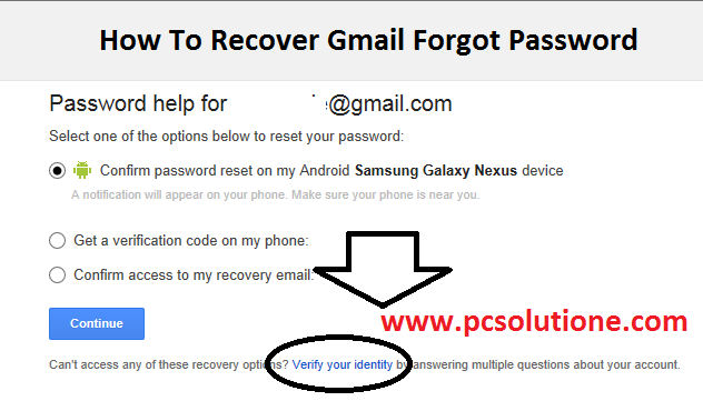 how to recover your forgot gmail password