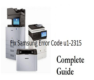 How to Samsung Error Code u1-2315