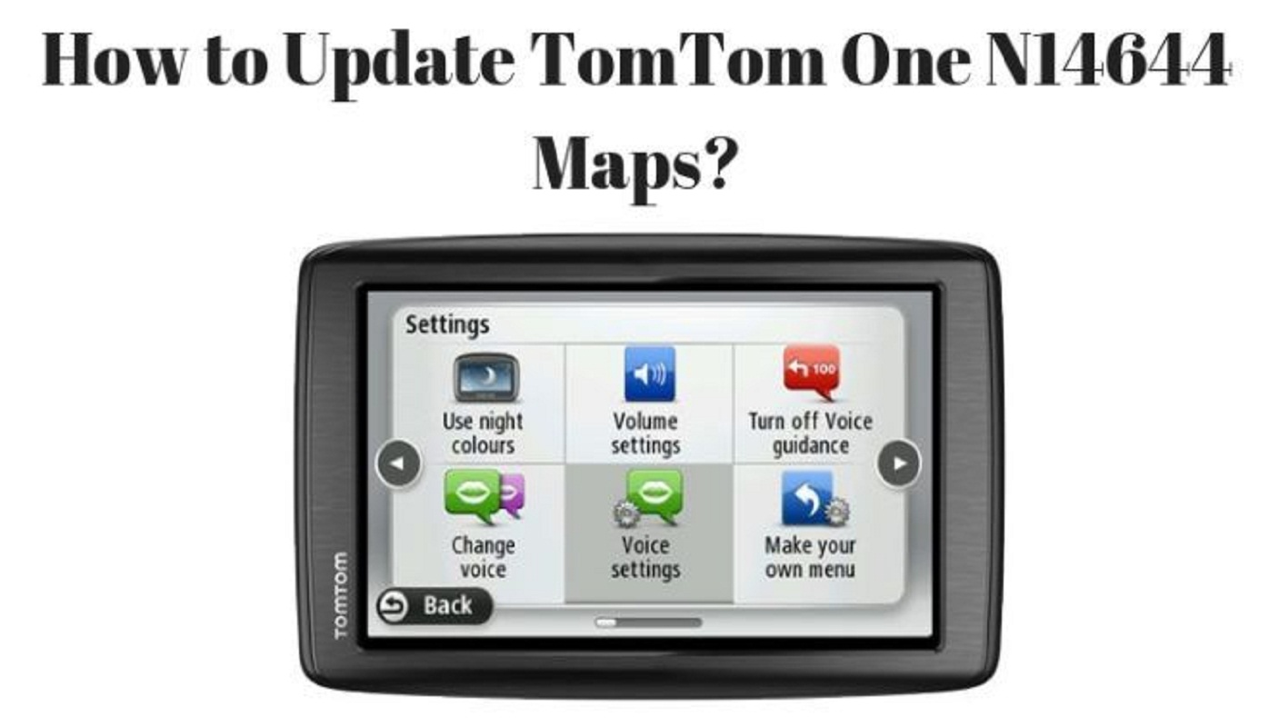 Update TomTom One N14644 Map